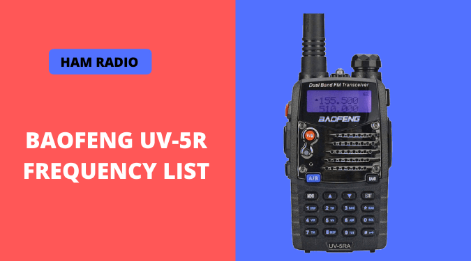 BaoFeng UV-5R Frequency list